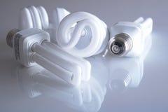 Energie - de Gloeilampen van de besparing Stock Fotografie