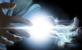 Energie in de hand. stock illustratie