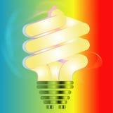Energie - de illustratie van de besparings gloeilamp Royalty-vrije Stock Afbeelding