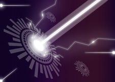 Energie der elektrischen Energie des Vektors Lizenzfreies Stockfoto