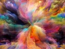 Energie der Farbe lizenzfreie abbildung