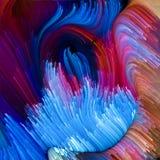 Energie der flüssigen Farbe Stockfotografie
