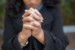 Energie des Gebets im Gebets-Garten Lizenzfreie Stockfotos