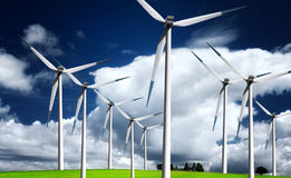 Energie do vento Imagens de Stock Royalty Free