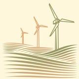 Energie do vento Fotografia de Stock