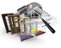 Energie efficiënte bouw Royalty-vrije Stock Foto's