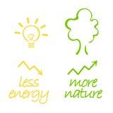Energie en aard royalty-vrije illustratie