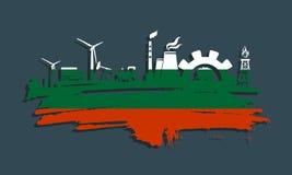 Energie en Machts geplaatste pictogrammen De slag van de borstel Royalty-vrije Stock Foto