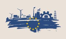 Energie en Machts geplaatste pictogrammen De slag van de borstel Stock Foto