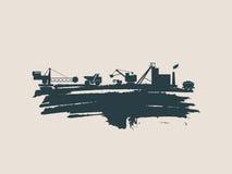 Energie en Machts geplaatste pictogrammen De slag van de borstel Stock Foto's