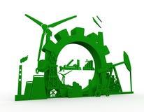 Energie en Machtspictogrammen met de vlagelement dat van Irak worden geplaatst Stock Afbeeldingen