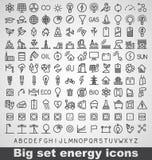 Energie en middelpictogramreeks Royalty-vrije Stock Afbeelding