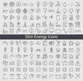 Energie en middelpictogramreeks Stock Foto's