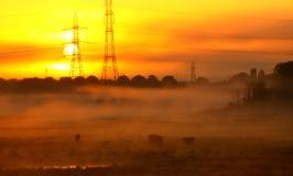 Energie en zonsopgang. Stock Fotografie