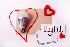 Energie - geïsoleerde= besparingslamp Stock Afbeelding