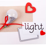 Energie - geïsoleerde= besparingslamp Royalty-vrije Stock Foto's