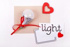 Energie - geïsoleerde= besparingslamp Royalty-vrije Stock Fotografie