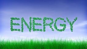 Energie - grüne Blatt-Text-Animation lizenzfreie abbildung