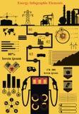 Energie infographics Lizenzfreies Stockfoto
