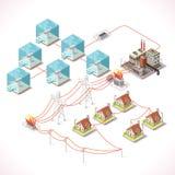 Energie 17 Isometrische Infographic Stock Foto's
