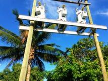 Energie-Kasten im blauen Himmel stockfotos