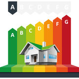 Energie-Klassen-Zertifikat-Haus Stockbilder