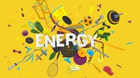 Energie kleurrijke kaart Royalty-vrije Stock Fotografie