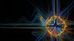 Energie kosmisch gat in ruimte Royalty-vrije Stock Afbeelding