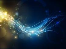 Energie lichte golven stock illustratie
