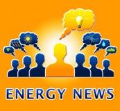 Energie-Nachrichten, die Illustration Electric Powers 3d zeigen Lizenzfreies Stockfoto