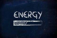 Energie prograss Stangenladen Stockfoto