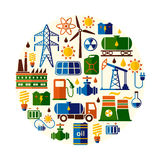 Energie, Strom, Energievektorhintergrund Stockfoto