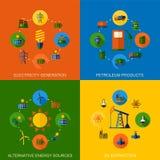 Energie, Strom, Energievektorhintergrund mit Platz für Text Lizenzfreies Stockfoto