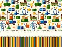 Energie, Strom, nahtloser Hintergrund des Energievektors mit Platz für Text Stockfotografie