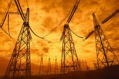 Energie-Turm Stockfotos