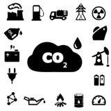 Energie-u. Energie-Ikonen Stockfotos