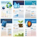Energie-und Energie-auswechselbares Nomogramm Infographic Lizenzfreie Stockbilder