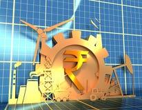 Energie- und Energieikonen eingestellt Stockfoto