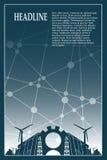 Energie- und Energieikonen eingestellt Geometrischer Plan der Broschüre Stockfotos