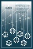 Energie- und Energieikonen eingestellt Geometrischer Plan der Broschüre Stockbilder