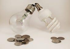 Energie und Geldeinsparung Stockbild