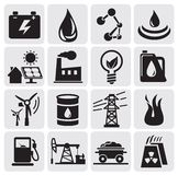 Energie- und Leistungikonen Lizenzfreies Stockfoto