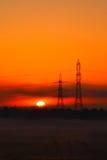 Energie und Sonnenaufgang. stockfotografie