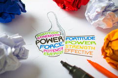 Energie und Stärke Stockfotos