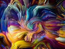 Energie van Gesmolten Kleuren stock illustratie