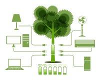 Energie van pictogram van de Boom het Groene Elektronika royalty-vrije illustratie