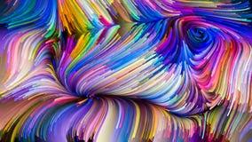 Energie van Vloeibare Kleur royalty-vrije illustratie