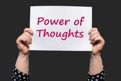 Energie von Gedanken Stockfoto
