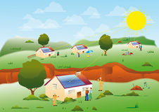 Energie zonne Stock Afbeelding