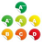Energiebewertungs-Klassenaufkleber Stockbilder